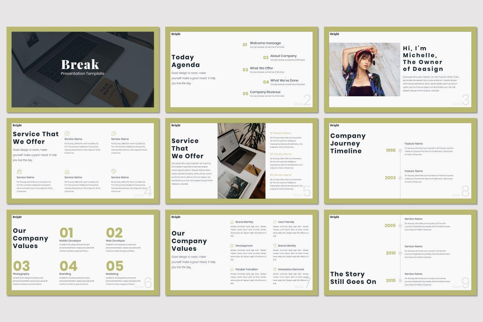 Bright - Powerpoint Template, Slide 2, 07577, Presentation Templates — PoweredTemplate.com