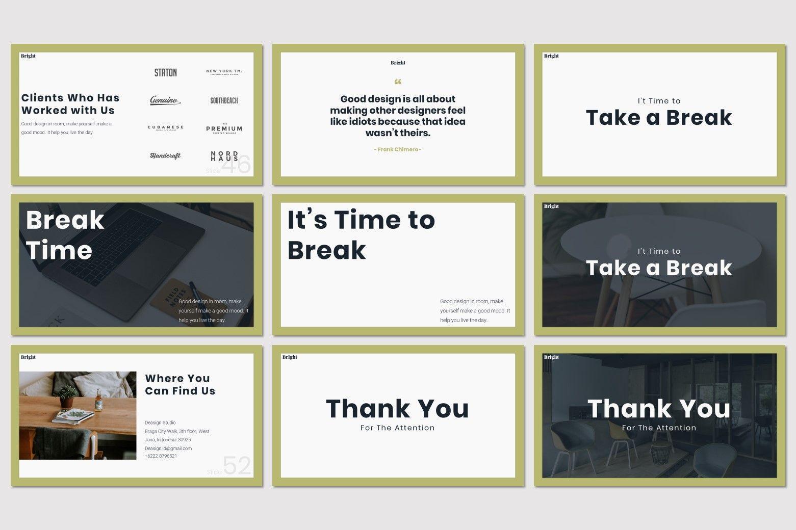 Bright - Powerpoint Template, Slide 8, 07577, Presentation Templates — PoweredTemplate.com