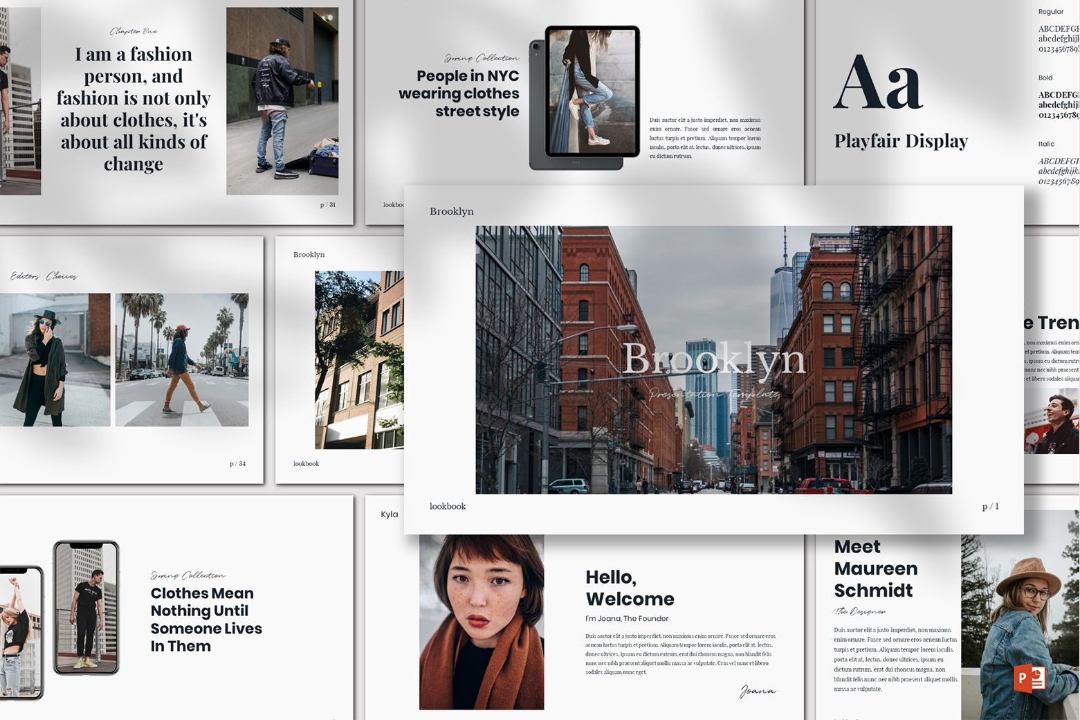 Brookly - Powerpoint Template, 07578, Presentation Templates — PoweredTemplate.com