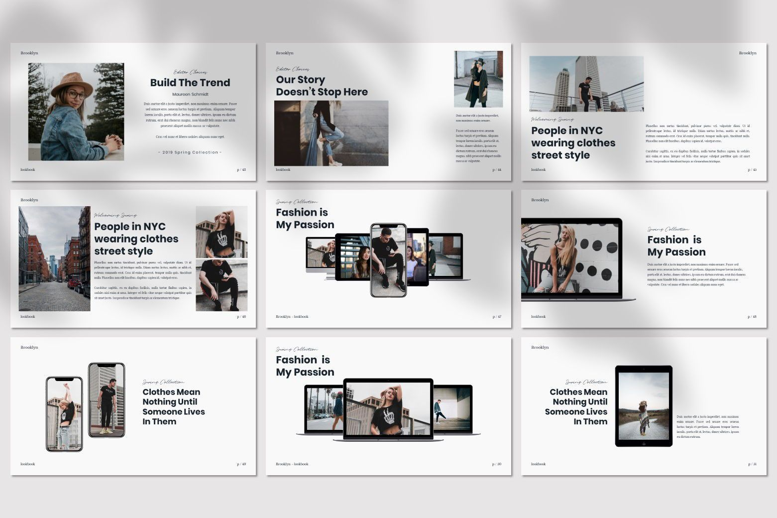 Brookly - Powerpoint Template, Slide 10, 07578, Presentation Templates — PoweredTemplate.com