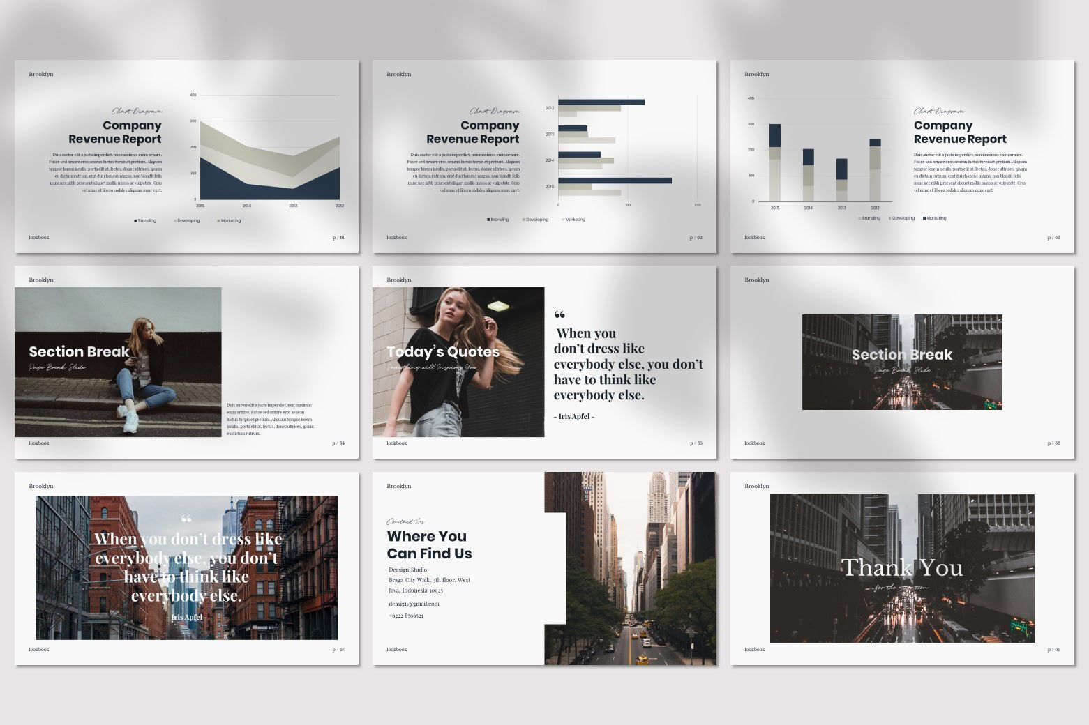 Brookly - Powerpoint Template, Slide 12, 07578, Presentation Templates — PoweredTemplate.com