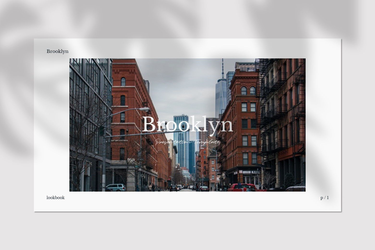 Brookly - Powerpoint Template, Slide 2, 07578, Presentation Templates — PoweredTemplate.com
