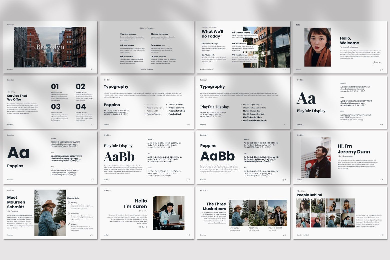 Brookly - Powerpoint Template, Slide 4, 07578, Presentation Templates — PoweredTemplate.com