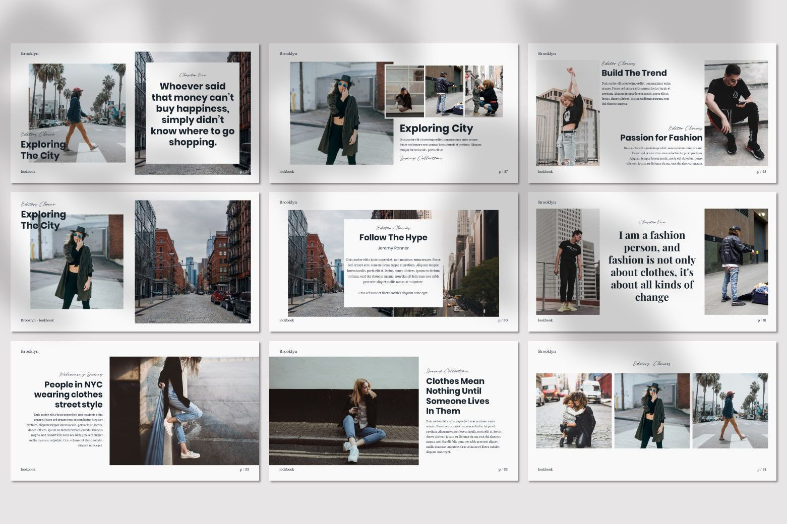 Brookly - Powerpoint Template, Slide 7, 07578, Presentation Templates — PoweredTemplate.com