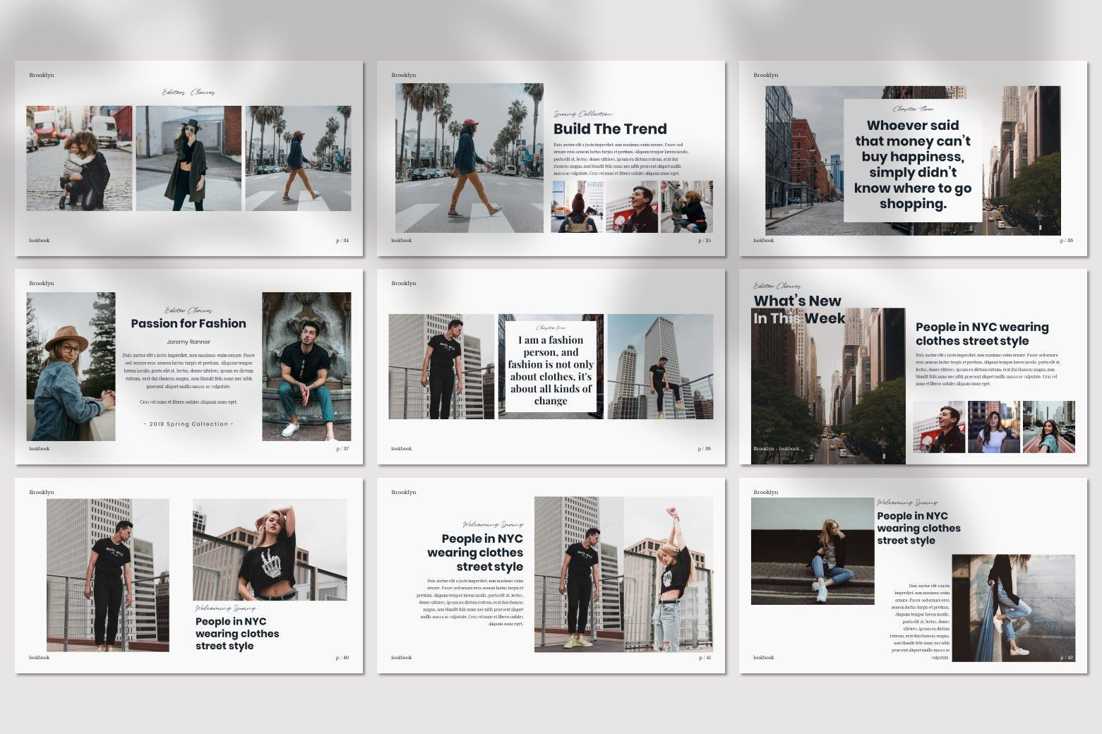 Brookly - Powerpoint Template, Slide 8, 07578, Presentation Templates — PoweredTemplate.com
