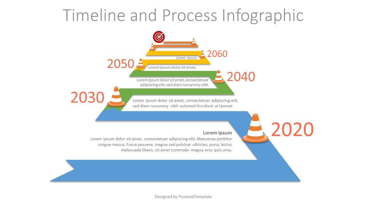 Winding to Horizon Roadmap Infographic, 07580, Timelines & Calendars — PoweredTemplate.com