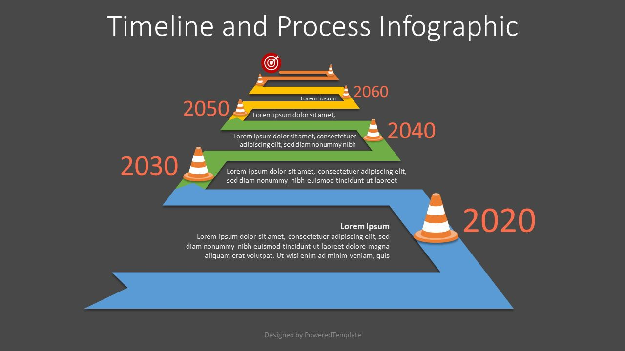 Winding to Horizon Roadmap Infographic, Slide 2, 07580, Timelines & Calendars — PoweredTemplate.com