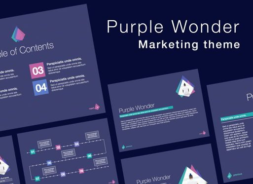 Presentation Templates: Purple Wonder Keynote Presentation Template #07581