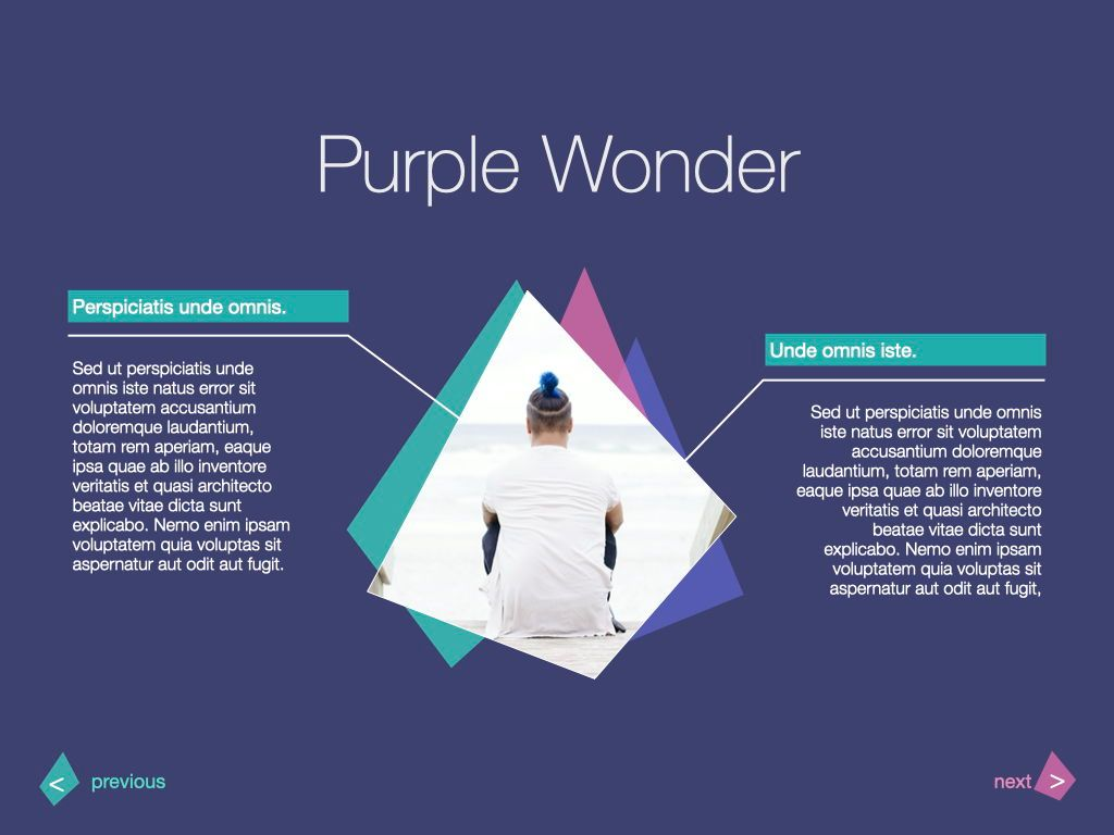 Purple Wonder Keynote Presentation Template, Slide 10, 07581, Presentation Templates — PoweredTemplate.com