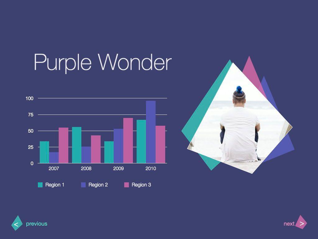 Purple Wonder Keynote Presentation Template, Slide 11, 07581, Presentation Templates — PoweredTemplate.com