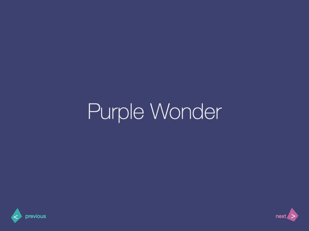 Purple Wonder Keynote Presentation Template, Slide 12, 07581, Presentation Templates — PoweredTemplate.com
