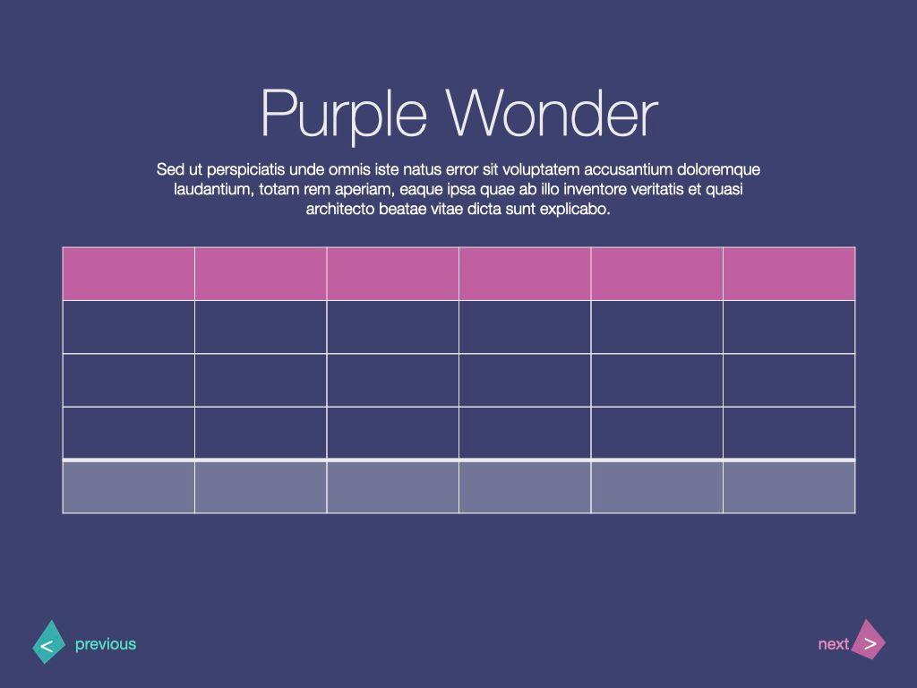 Purple Wonder Keynote Presentation Template, Slide 14, 07581, Presentation Templates — PoweredTemplate.com