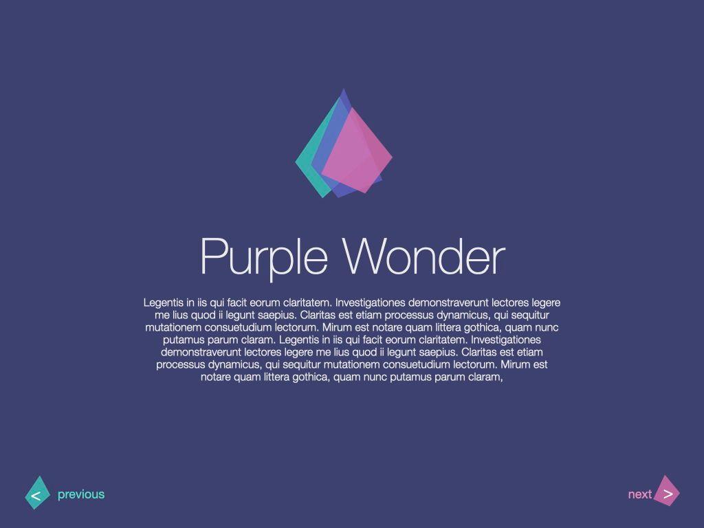 Purple Wonder Keynote Presentation Template, Slide 15, 07581, Presentation Templates — PoweredTemplate.com