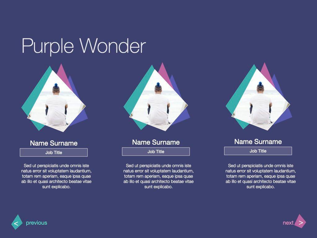 Purple Wonder Keynote Presentation Template, Slide 19, 07581, Presentation Templates — PoweredTemplate.com