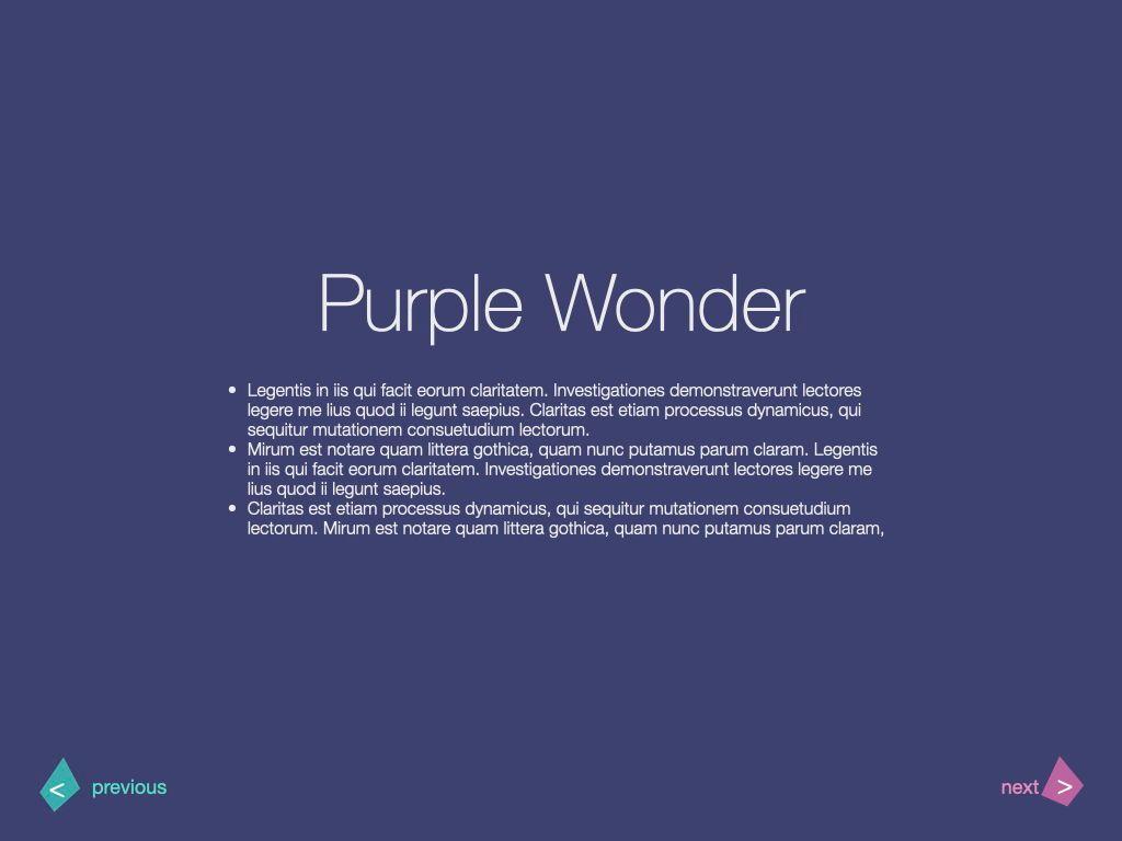 Purple Wonder Keynote Presentation Template, Slide 20, 07581, Presentation Templates — PoweredTemplate.com