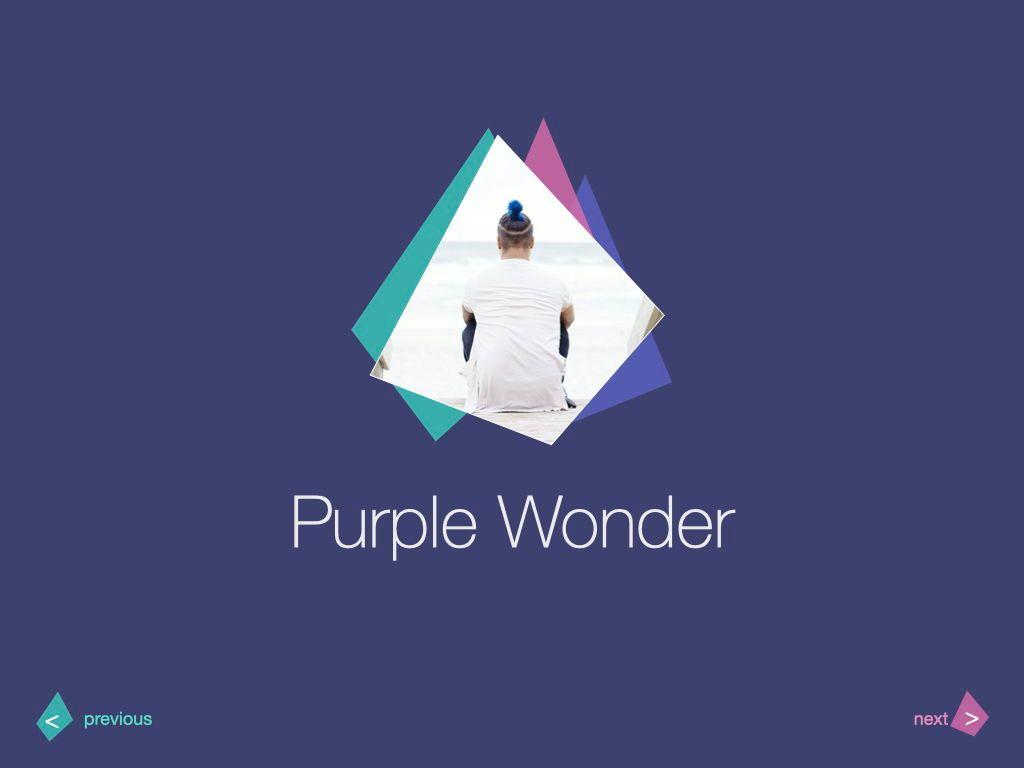 Purple Wonder Keynote Presentation Template, Slide 3, 07581, Presentation Templates — PoweredTemplate.com