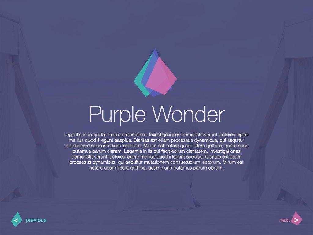 Purple Wonder Keynote Presentation Template, Slide 4, 07581, Presentation Templates — PoweredTemplate.com