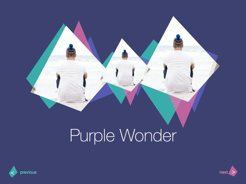 Purple Wonder Keynote Presentation Template, Slide 5, 07581, Presentation Templates — PoweredTemplate.com
