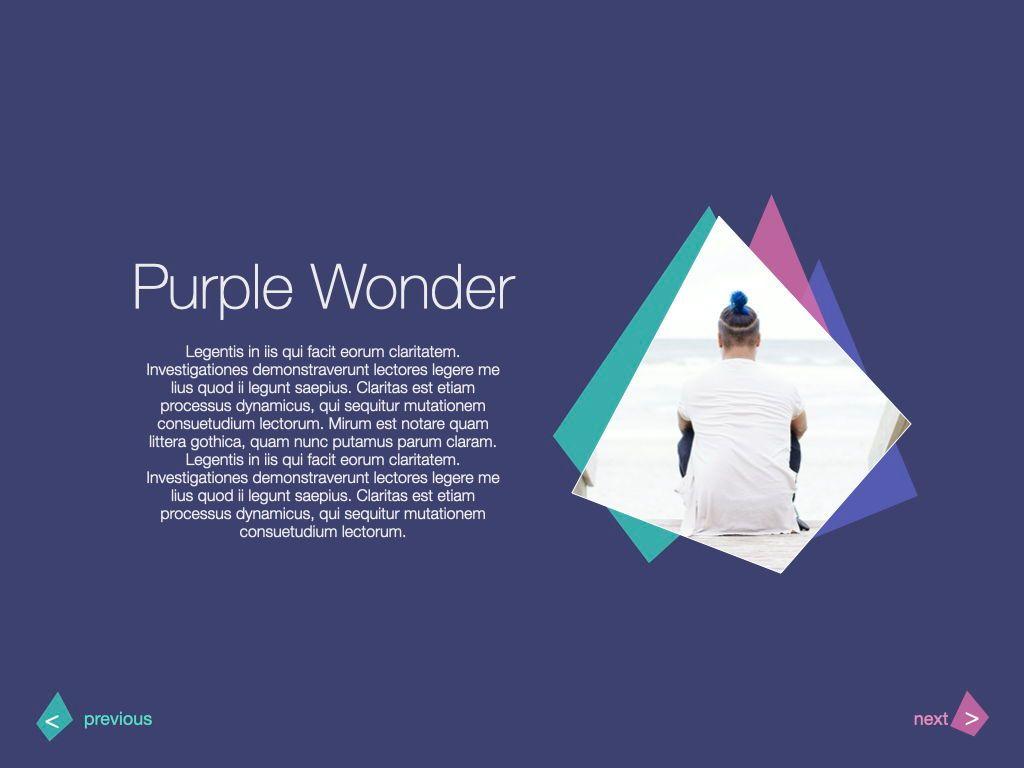 Purple Wonder Keynote Presentation Template, Slide 6, 07581, Presentation Templates — PoweredTemplate.com