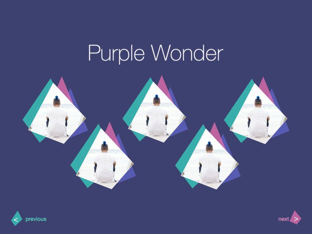 Purple Wonder Keynote Presentation Template, Slide 8, 07581, Presentation Templates — PoweredTemplate.com
