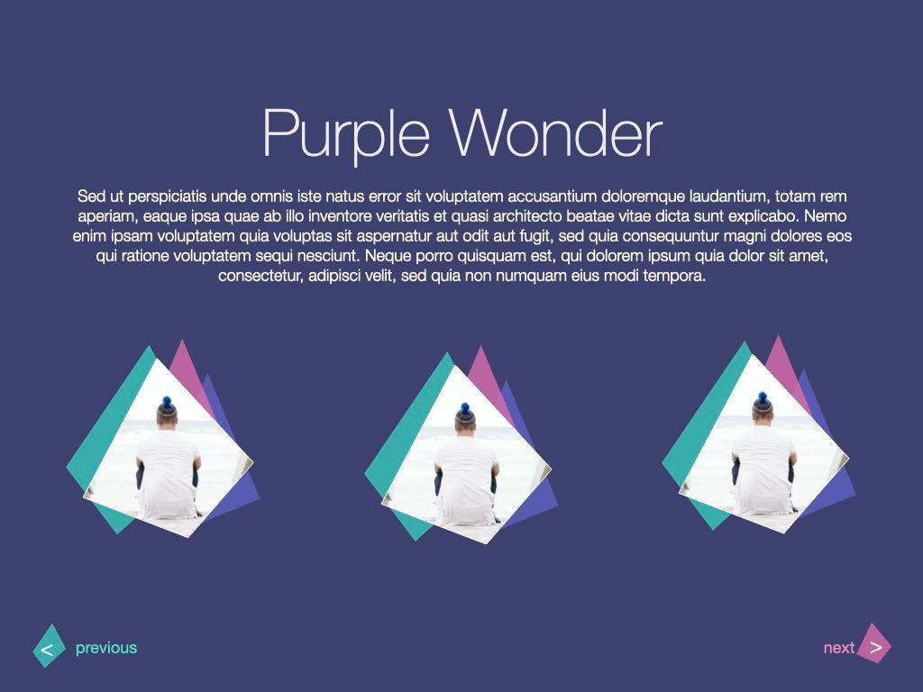 Purple Wonder Keynote Presentation Template, Slide 9, 07581, Presentation Templates — PoweredTemplate.com