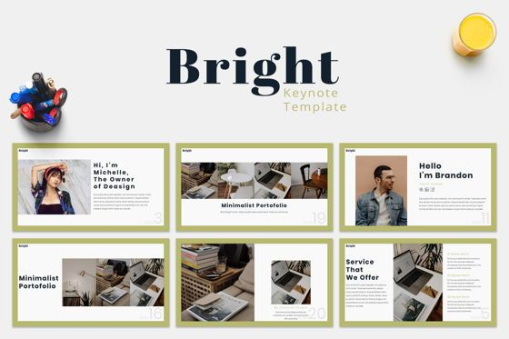 Presentation Templates: Bright - Keynote Template #07584