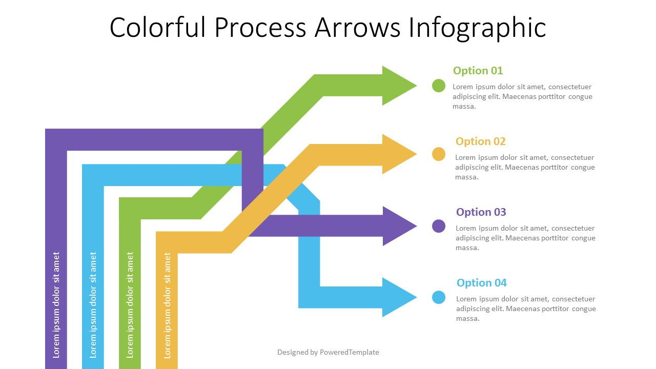 Intertwined Arrows Infographic, 07586, Process Diagrams — PoweredTemplate.com
