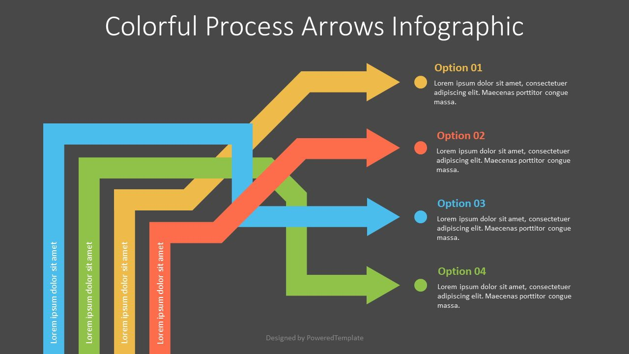 Intertwined Arrows Infographic, Slide 2, 07586, Process Diagrams — PoweredTemplate.com