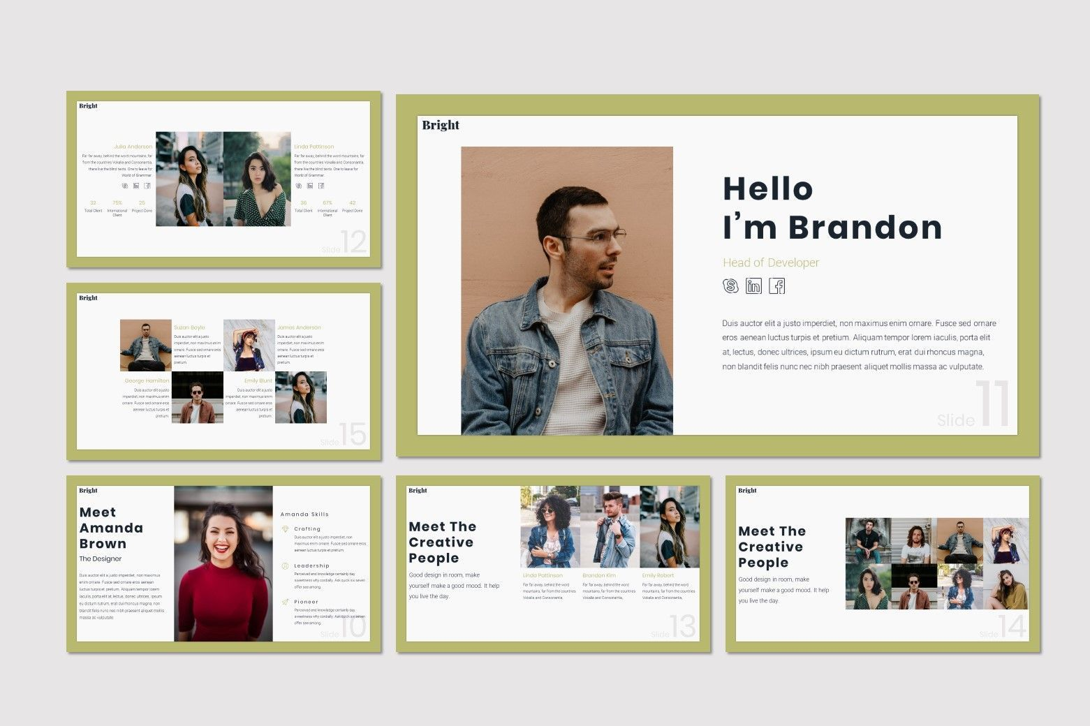 Bright - Google Slides Template, Slide 3, 07587, Presentation Templates — PoweredTemplate.com