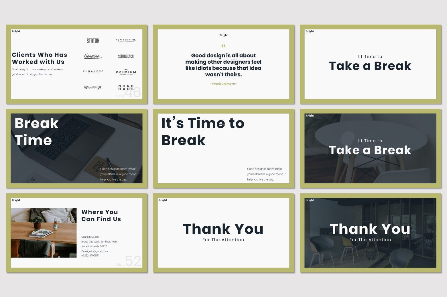 Bright - Google Slides Template, Slide 8, 07587, Presentation Templates — PoweredTemplate.com