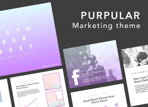 Presentation Templates: Purpular Keynote Presentation Template #07588