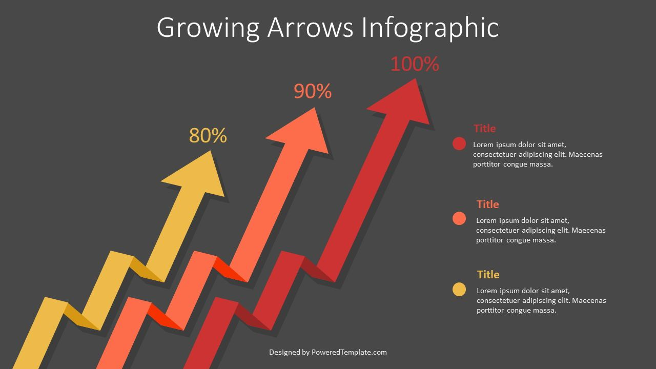 Growing Arrows Infographic, Slide 2, 07590, Infographics — PoweredTemplate.com