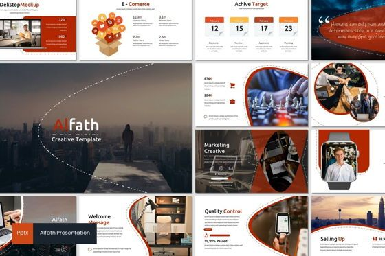 Presentation Templates: Alfath - PowerPoint Template #07592