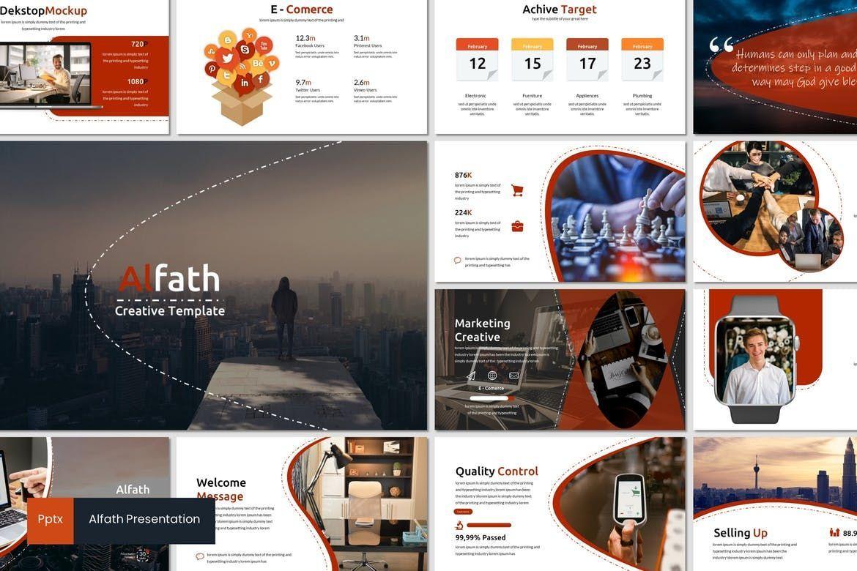 Alfath - PowerPoint Template, 07592, Presentation Templates — PoweredTemplate.com
