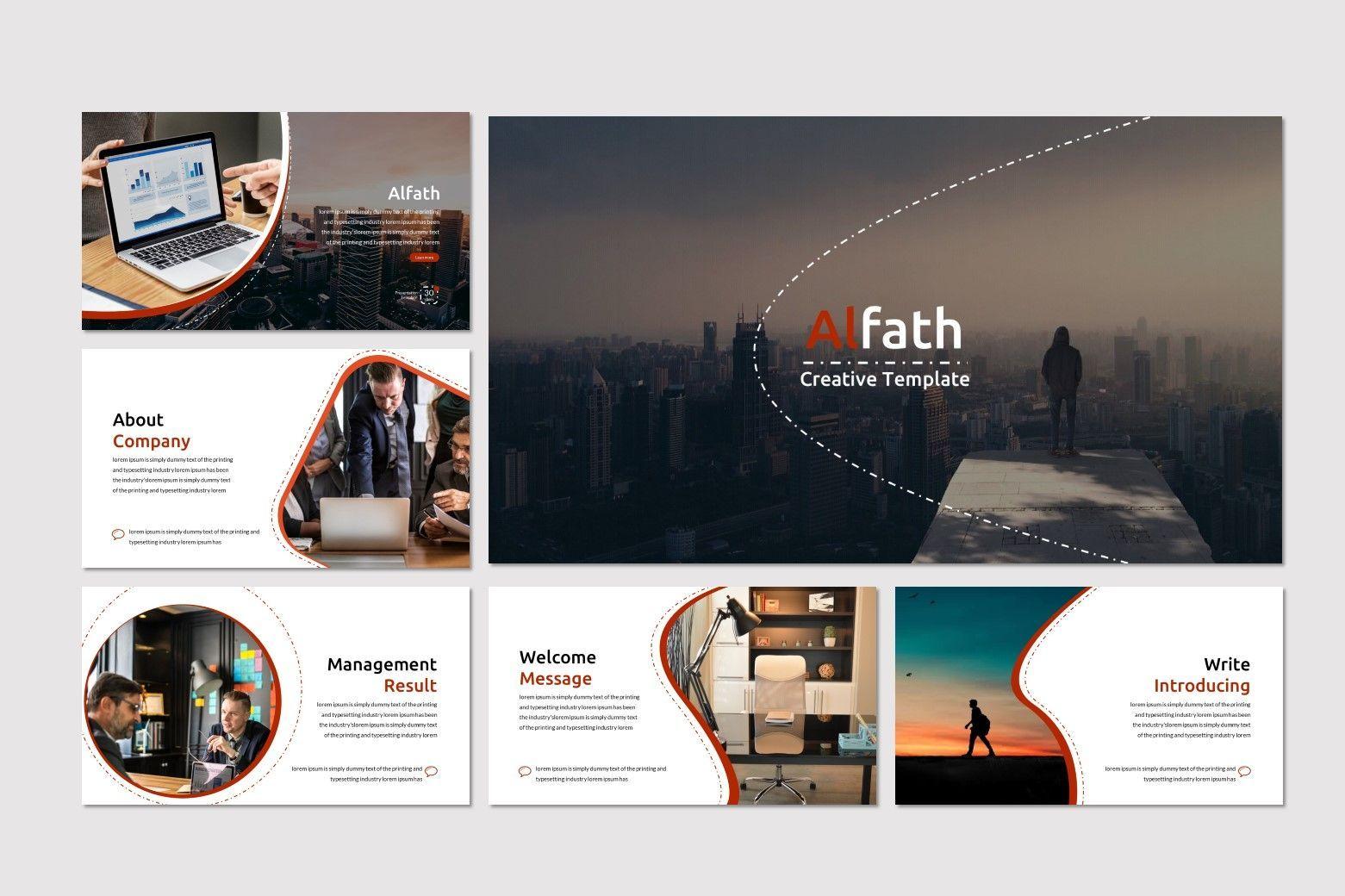 Alfath - PowerPoint Template, Slide 2, 07592, Presentation Templates — PoweredTemplate.com