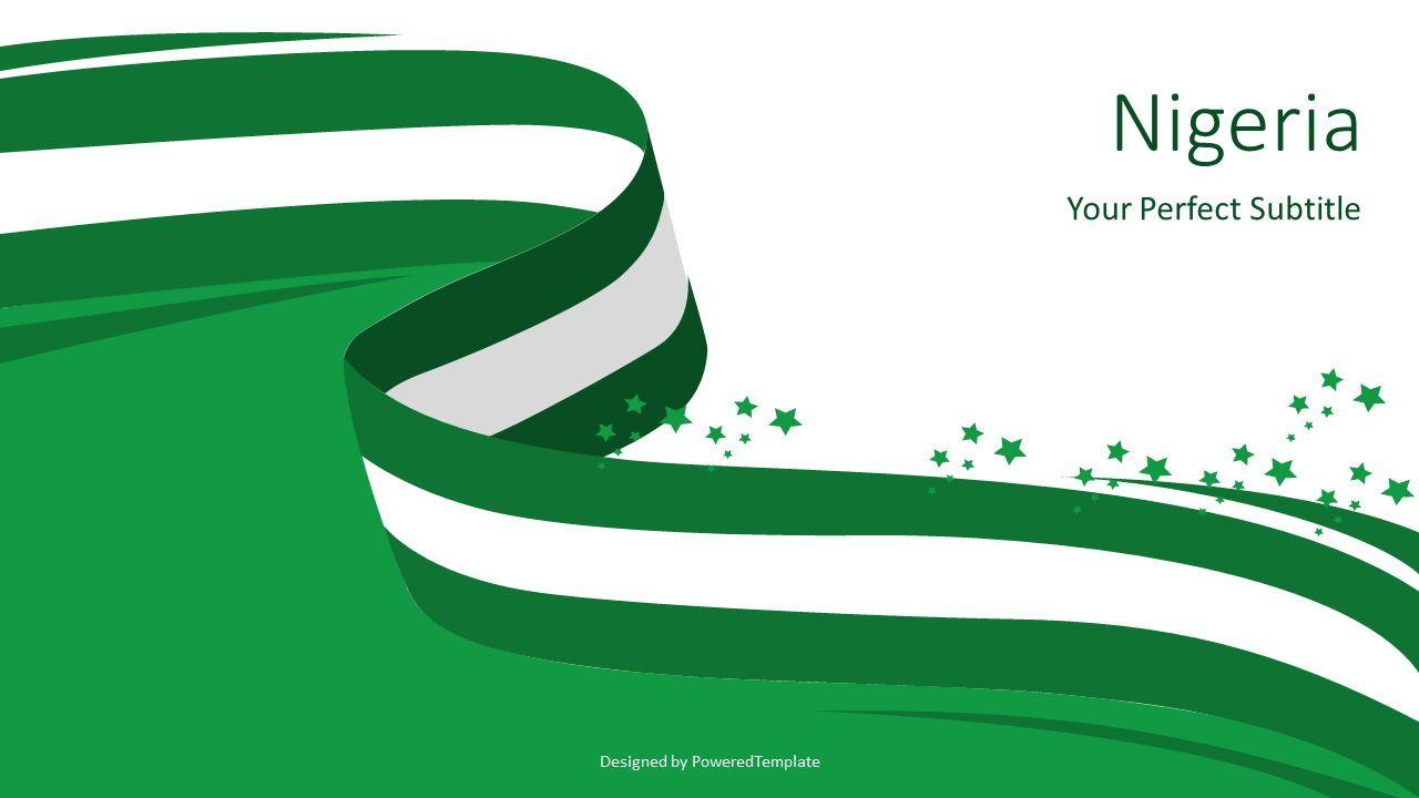 National Flag of Nigeria, 07594, Presentation Templates — PoweredTemplate.com