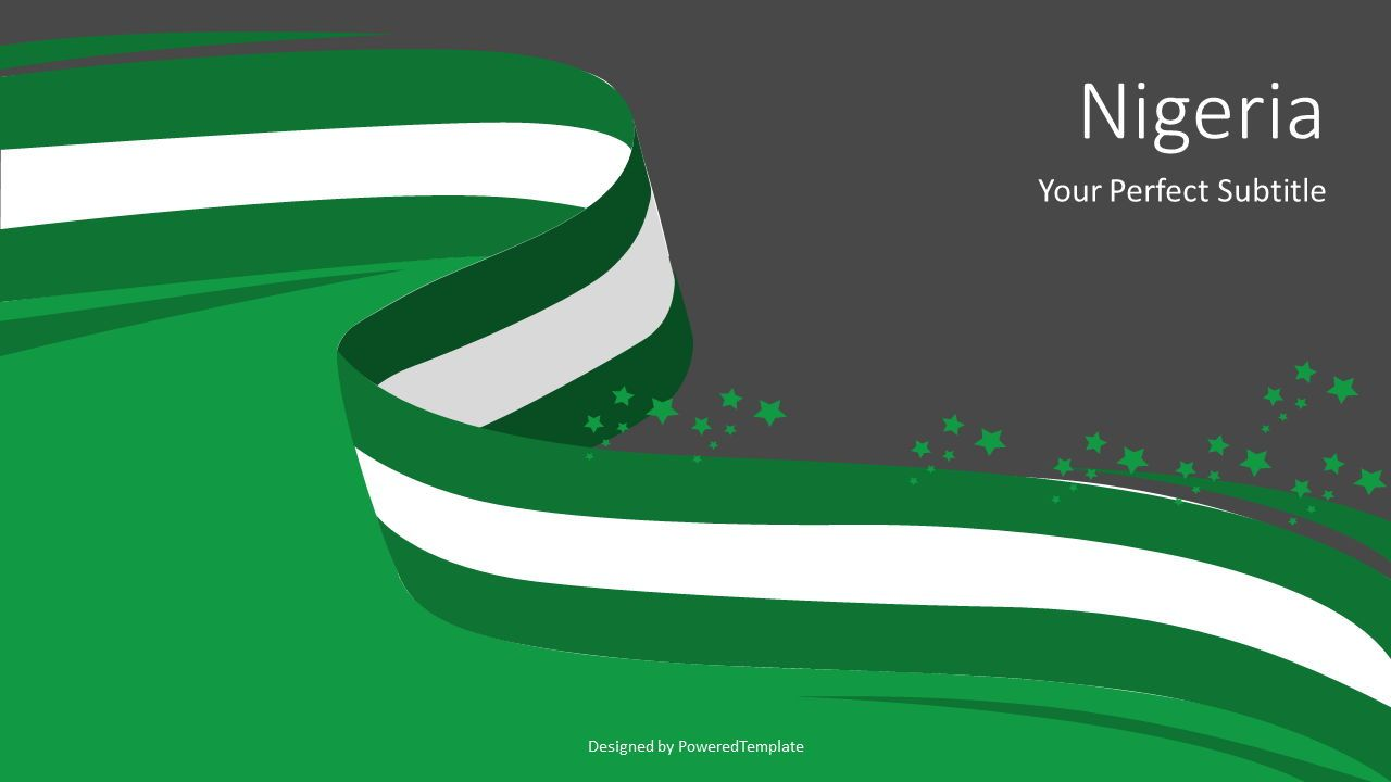 National Flag of Nigeria, Slide 2, 07594, Presentation Templates — PoweredTemplate.com
