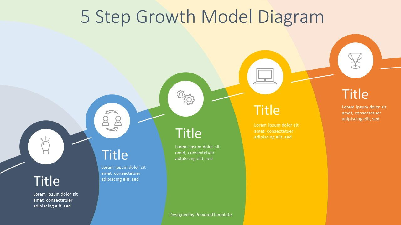 5 Step Growth Infographic, 07597, Business Models — PoweredTemplate.com