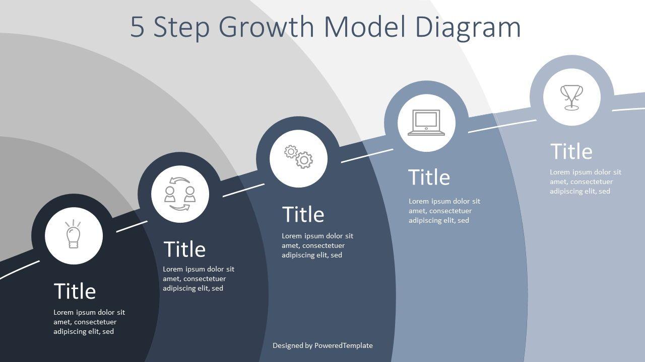 5 Step Growth Infographic, Slide 2, 07597, Business Models — PoweredTemplate.com