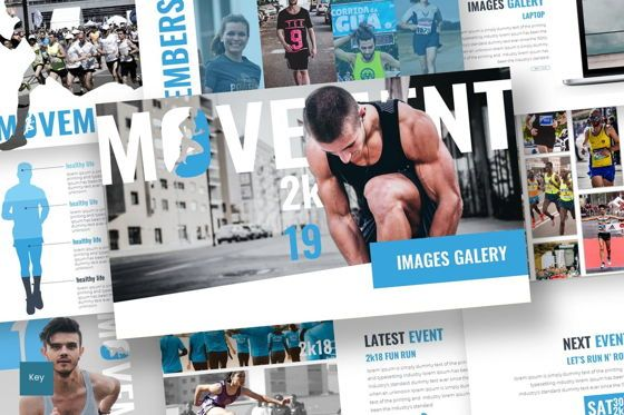 Presentation Templates: Movement - Keynote Template #07598