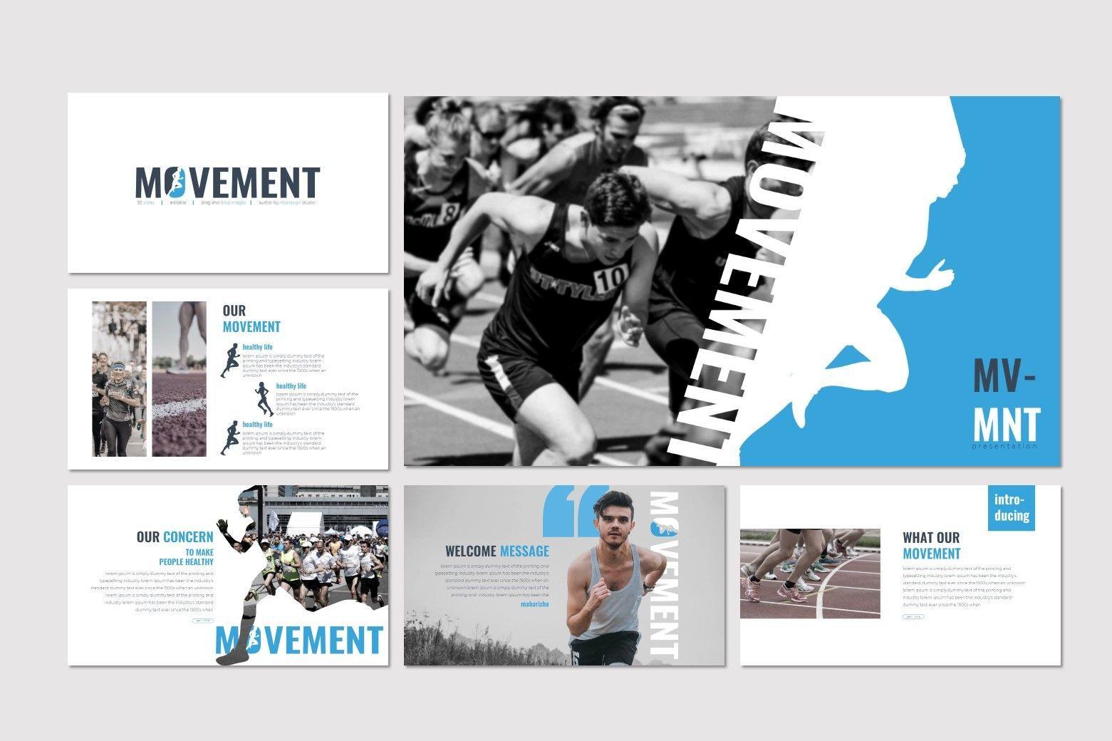 Movement - Keynote Template, Slide 2, 07598, Presentation Templates — PoweredTemplate.com