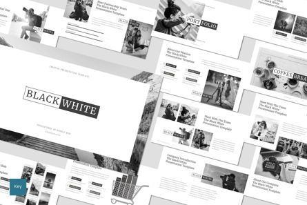Presentation Templates: Black and White - Keynote Template #07599