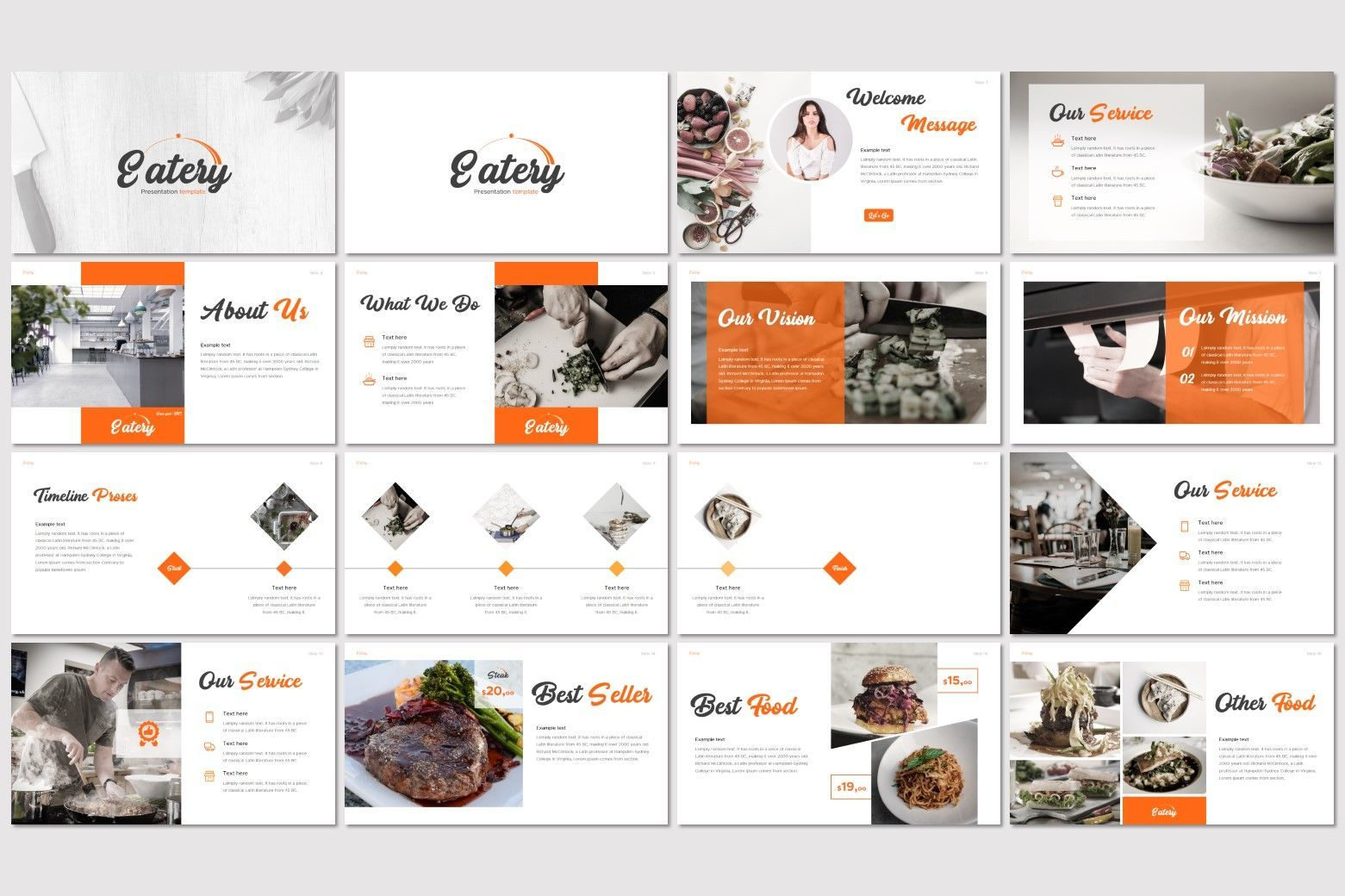 Eatery - Keynote Template, Slide 2, 07600, Presentation Templates — PoweredTemplate.com