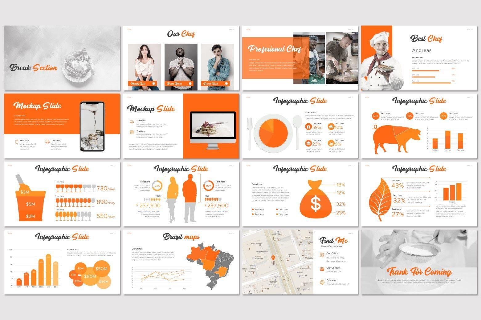 Eatery - Keynote Template, Slide 3, 07600, Presentation Templates — PoweredTemplate.com