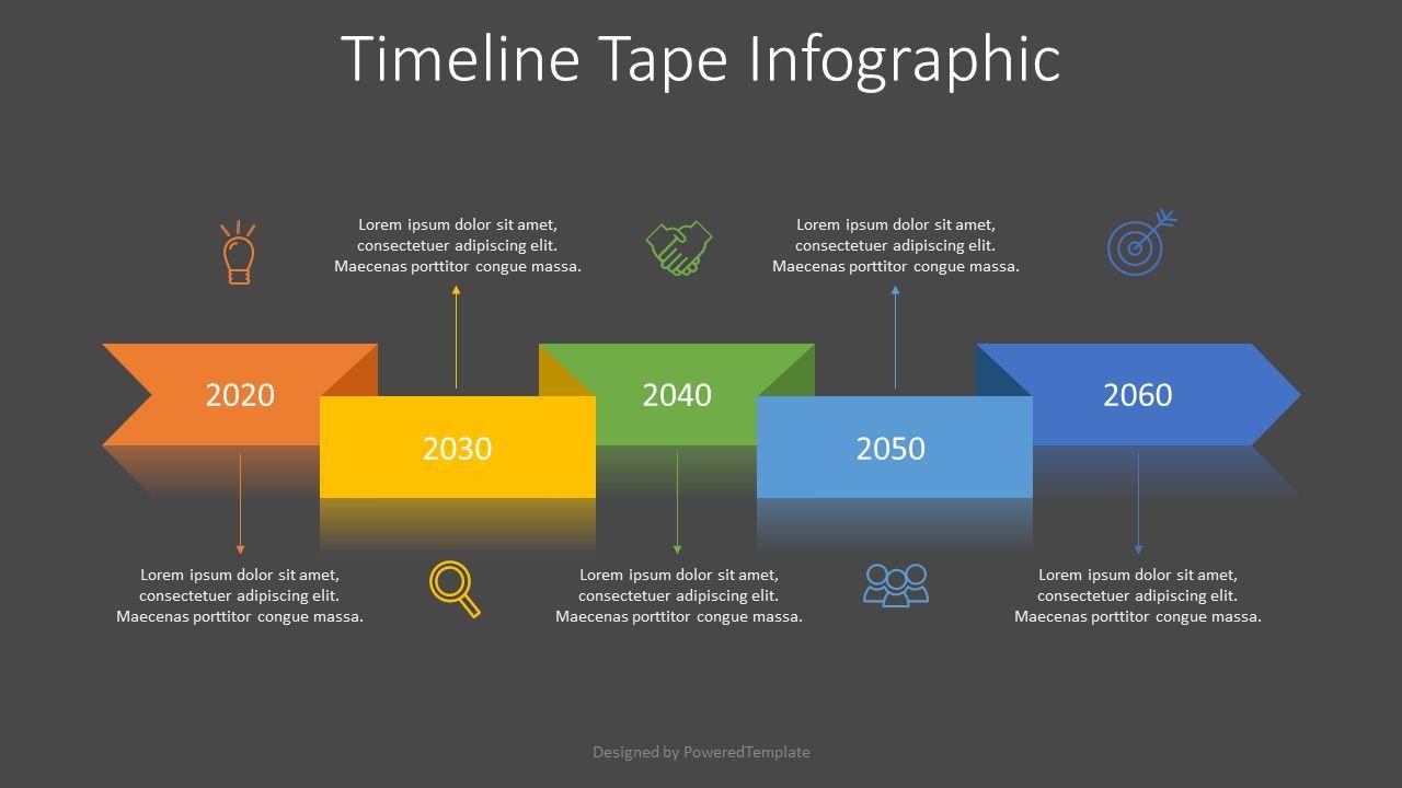 Timeline Tape Diagram, Slide 2, 07601, Timelines & Calendars — PoweredTemplate.com