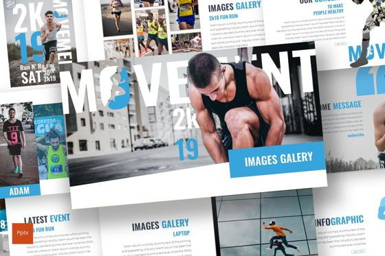Presentation Templates: Movement - PowerPoint Template #07602