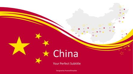 Presentation Templates: National Flag of China #07603