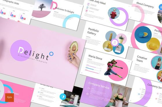 Presentation Templates: Delight - PowerPoint Template #07604
