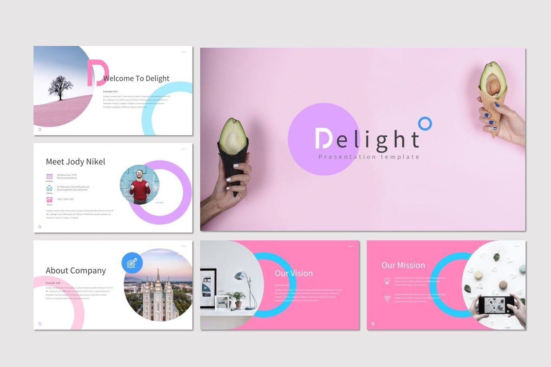 Delight - PowerPoint Template, Slide 2, 07604, Presentation Templates — PoweredTemplate.com