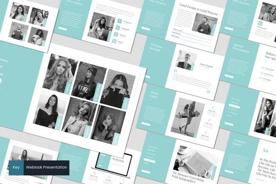Presentation Templates: Weblook - Keynote Template #07605